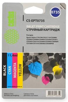 Струйный картридж Cactus CS-EPT0735 (C13T10554A10) набор для принтеров Epson Stylus С79, C110, СХ3900, CX4900, CX5900, CX6900F, CX7300, CX8300, CX9300F, Office T30, T40W, TX300F, TX510FN, TX600FW (4 x 270 стр.) - фото 5286