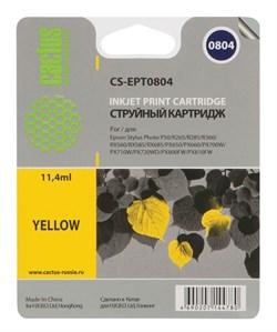 Струйный картридж Cactus CS-EPT0804 (C13T08044011) желтый для принтеров Epson Stylus Photo P50, PX650, PX660, PX700, PX700W, PX710, PX710W, PX720, PX720WD, PX800, PX800FW, PX810, PX810FW, PX820, PX820FWD, R265, R285, R360, RX560, RX585, RX685 (220 стр.) - фото 5300