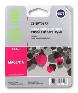 Струйный картридж Cactus CS-EPT0873 (C13T08734010) пурпурный для принтеров Epson Stylus Photo R1900 (13,8 мл.) - фото 5329