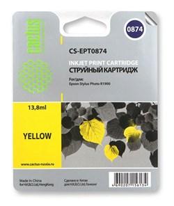 Струйный картридж Cactus CS-EPT0874 (C13T08744010) желтый для принтеров Epson Stylus Photo R1900 (13.8 мл) - фото 5333