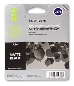 Струйный картридж Cactus CS-EPT0878 (C13T08784010) черный матовый для принтеров Epson Stylus Photo R1900 (13.8 мл) - фото 5341