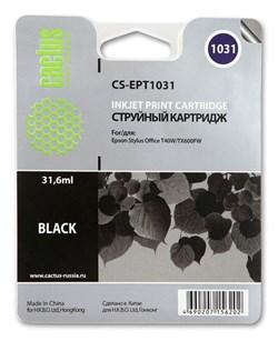 Струйный картридж Cactus CS-EPT1031 (C13T10314A10) черный для принтеров Epson Stylus TX550, Stylus Office T40, TX600 (930 стр.) - фото 5350
