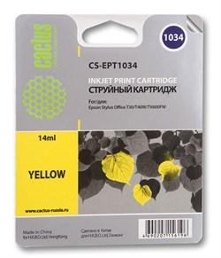 Струйный картридж Cactus CS-EPT1034 (C13T10344A10) желтый для принтеров Epson Stylus TX550, Stylus Office T30, T40, T1100, TX510, TX600 (980 стр.) - фото 5360