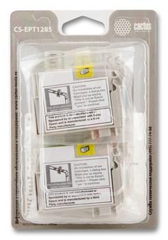 Струйный картридж Cactus CS-EPT1285 (C13T12854010) набор для принтеров Epson Stylus S22, S125, SX130, SX230, SX235W, SX420W, SX425W, SX430W, SX435W, SX440W, SX445W, Office BX305F (4 x 270 стр.) - фото 5366