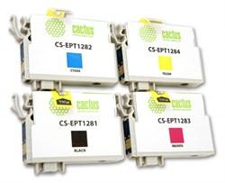 Струйный картридж Cactus CS-EPT1285 (C13T12854010) набор для принтеров Epson Stylus S22, S125, SX130, SX230, SX235W, SX420W, SX425W, SX430W, SX435W, SX440W, SX445W, Office BX305F (4 x 270 стр.) - фото 5368