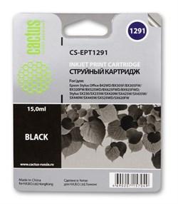 Струйный картридж Cactus CS-EPT1291 (C13T12914011) черный для принтеров Epson Stylus SX230, SX235W, SX420W, SX425W, SX430W, SX435W, SX440W, SX445W, SX525WD, SX535WD, Stylus Office B42WD, BX305F, BX320FW, BX625FWD, BX635FWD, WorkForce WF-3520DWF, WF-7015, - фото 5369