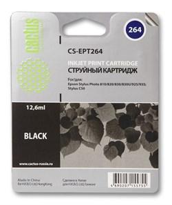 Струйный картридж Cactus CS-EPT264 (C13T02640110) черный для принтеров Epson Stylus C50, Photo 810, 820, 830, 830U, 925, 935 (12.6 мл) - фото 5385
