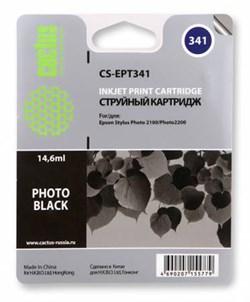 Струйный картридж Cactus CS-EPT341 (C13T03414010) черный для принтеров Epson Stylus Photo 2100, 2200 (14.6 мл) - фото 5392