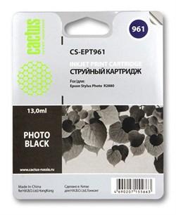 Струйный картридж Cactus CS-EPT961 (C13T09614010) черный глянцевый для принтеров Epson Stylus Photo R2880 (13 мл) - фото 5422