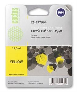 Струйный картридж Cactus CS-EPT964 (T0964) желтый для принтеров Epson Stylus Photo R2880 (13 мл) - фото 5434