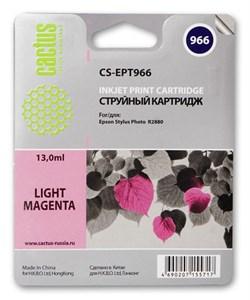 Струйный картридж Cactus CS-EPT966 (T0966) светло-пурпурный для принтеров Epson Stylus Photo R2880 (13 мл) - фото 5442