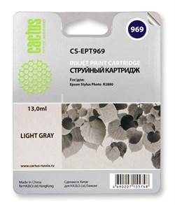 Струйный картридж Cactus CS-EPT969 (T0969) светло-серый для принтеров Epson Stylus Photo R2880 (13 мл) - фото 5454