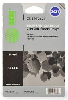 Струйный картридж Cactus CS-EPT2621 (C13T26214010) черный для принтеров Epson Expression Premium XP-600, XP-605, XP-700, XP-710, XP-800, XP-820 (500 стр.) - фото 5470