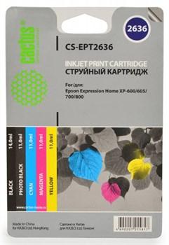 Струйный картридж Cactus CS-EPT2636 (C13T26364010) набор для принтеров Epson Expression Premium XP-600, XP-605, XP-700, XP-710, XP-800, XP-820 (4 x 700 стр.) - фото 5480