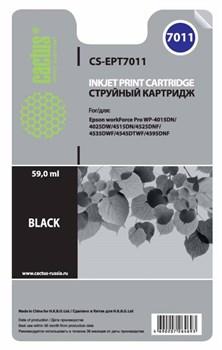 Струйный картридж Cactus CS-EPT7011 (C13T70114010) черный для принтеров Epson WorkForce Pro WF-4015, WF-4020, WF-4025, WF-4095, WF-4515, WF-4525, WF-4535, WF-4545, WF-4595 (3400 стр.) - фото 5482