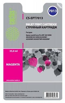 Струйный картридж Cactus CS-EPT7013 (C13T70134010) пурпурный для принтеров Epson WorkForce Pro WF-4015, WF-4020, WF-4025, WF-4095, WF-4515, WF-4525, WF-4535, WF-4545, WF-4595 (3400 стр.) - фото 5484