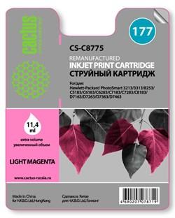 Струйный картридж Cactus CS-C8775 (HP 177) светло-пурпурный для HP PhotoSmart 3100, 3210, 3213, 3310, 3313, C5183, C6100, C6183, C6200, C6283, C7183, C7200, C7280, C7283, C8183, D7100, D7160, D7163, D7300, D7363 (11,4 мл.) - фото 5500
