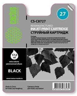 Струйный картридж Cactus CS-C8727 (HP 27) черный для HP DeskJet 3320, 3420, 3520, 3535, 3550, 3645, 3650, 3740, 3840, 5150, OfficeJet 4211, 4251, 4311, 4352, 5600, 5610, PSC 1310, 1340, 1350 (17 мл.) - фото 5513