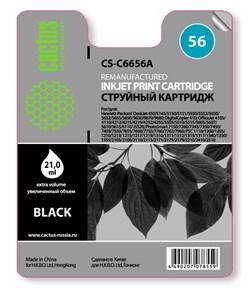 Струйный картридж Cactus CS-C6656A (HP 56) черный для HP DeskJet 450, 5150, 5650, 5850, 9680; OfficeJet 4110, 4215, 5510, 5610, 6110; PhotoSmart 7260, 7350, 7450, 7660, 7760, 7960; PSC 1110, 1210, 1315, 2110, 2210, 2410, 2510 (21 мл.) - фото 5521