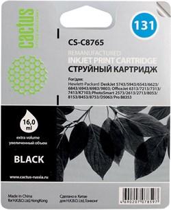 Струйный картридж Cactus CS-C8765 (HP 131) черный для HP DeskJet 5740, 6540, 9800; OfficeJet 100, K7100; PhotoSmart 2570, 7850, 8050, 8100, 8700, С3100, D5060, PRO B8350; PSC 1600, 1610, 2350 (16 мл.) - фото 5543