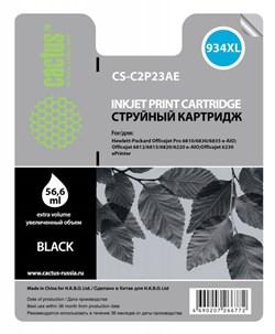 Струйный картридж Cactus CS-C2P23AE (HP 934Xl) черный увеличенной емкости для HP OfficeJet Pro 6230 ePrinter, Pro 6830 eAll in One (56,6 мл.) - фото 5547