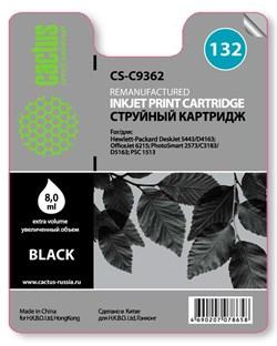 Струйный картридж Cactus CS-C9362 (HP 132) черный для HP DeskJet 5400, 5440, D4160, D4163; OfficeJet 6310, 6315; PhotoSmart 2575, 7850, C3110, C3125, C3140, C3170, C3190, C4110, C4140, C4150, C4170, C4190; PSC 1503, 1510, 1513 (7 мл) - фото 5563