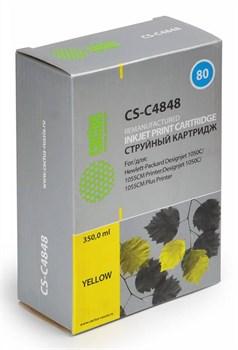 Струйный картридж Cactus CS-C4848 (HP 80) желтый для HP DesignJet 1000 series, 1050, 1050c, 1050c Plus, 1055, 1055cm, 1055cm Plus (350 мл.) - фото 5583