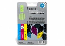 Струйный картридж Cactus CS-C6578D (HP 78) цветной для HP DeskJet 916, 920, 940, 980, 1180, 1220, 3810, 9300; OfficeJet 5105, G85, K80, V45; PhotoSmart 1100, 1215, 1315, P1100; PSC 720, 950; Fax 1220, 1230; Color Copier 310 (19 мл) - фото 5651