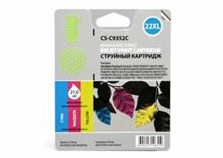 Струйный картридж Cactus CS-C9352C (HP 22XL) цветной увеличенной емкости для HP DeskJet 3920, 3940, D1300, D1400, D1560, D2360, D2400, F300, F2100, F2280, F2290, F4172; OfficeJet 1410, 4300, 4352, J3680, J5520; PSC 1400 (21 мл.) - фото 5676