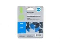 Струйный картридж Cactus CS-CB318N (HP 178) голубой для HP DeskJet 3070A B611, 3522; PhotoSmart 5510 B111, 5520, 7520, B010, B110, B209, B210, B8553, C309, C310, C410, C5300, C5380, C5383, C6383, D5460, D5463 (6 мл.) - фото 5766