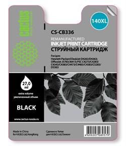 Струйный картридж Cactus CS-CB336 (HP 140XL) черный увеличенной емкости для HP DeskJet D4263, D4363; OfficeJet J5730, J5780, J5785, J5790, J6415, J6450; PhotoSmart C4200, C4225, C4240, C4250, C4270, C4280, C4343, C4380 (27 мл.) - фото 5810
