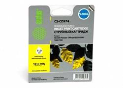 Струйный картридж Cactus CS-CD974 (HP 920XL) желтый увеличенной емкости для HP OfficeJet 6000 Pro, 6500, 6500a, 7000, 7500, 7500a (e910a) (11 мл.) - фото 5847