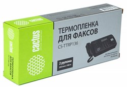 Термопленка Cactus CS-TTRP136 (KX-FA136A) черный для принтеров Panasonic KX F969, F1010, F1015, F1016, F1110, F1800, F1810, F1810E, F1810G, F1820, F1830, F1830G, FM205, FM210, FM220, FM230, FM255, FM260, FM280, FM330, FMC230 - фото 5924