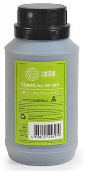 Тонер для принтера Cactus CS-THP1-100 черный (флакон 100гр) HP LJ 1010, 1012, 1015 - фото 5945