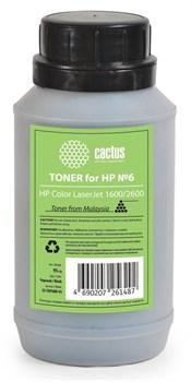 Тонер для принтера Cactus CS-THP6BK-95 черный для картриджаHP Q6000A и его аналога Cactus CS-Q6000A (флакон 95 гр.) - фото 5960