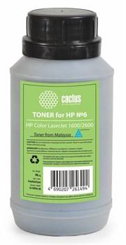 Тонер для принтера Cactus CS-THP6C-90 голубой (флакон 90гр) HP  Color LaserJet 1600, 2600 - фото 5961