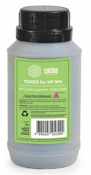Тонер для принтера Cactus CS-THP6M-90 пурпурный для картриджаHP Q6003A и его аналога Cactus CS-Q6003A (флакон 90 гр.) - фото 5962
