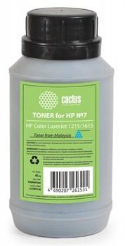 Тонер Cactus CS-THP7C-45 голубой (флакон 45 гр.) для принтера HP Color LaserJet 1215, 1615 - фото 5965