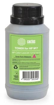 Тонер для принтера Cactus CS-THP7M-45 пурпурный (флакон 45гр) HP  Color LaserJet 1215, 1615