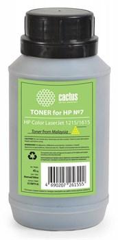 Тонер для принтера Cactus CS-THP7Y-45 желтый (флакон 45гр) HP  Color LaserJet 1215, 1615 - фото 5967