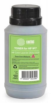 Тонер для принтера Cactus CS-THP8M-70 пурпурный для картриджаHP CC533A и его аналога Cactus CS-CC533A (флакон 70 гр.) - фото 5970