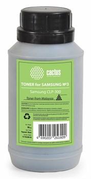 Тонер для принтера Cactus CS-TSG3BK-90 черный для картриджаSamsung CLP-K300A и его аналога Cactus CS-CLP-K300A. (флакон 90 гр.) - фото 5972