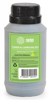 Тонер Cactus CS-TSG3Y-45 желтый для картриджаSamsung CLP-Y300A и его аналога Cactus CS-CLP-Y300A (флакон 45 гр.) - фото 5975