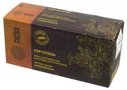 Лазерный картридж Cactus CSP-CC532A (HP 304A) желтый для принтеров HP  Color LaserJet CM2320 mfp, CM2320fxi (CC435A), CM2320n, CM2320nf (CC436A), CP2020 series, CP2025 (CB493A), CP2025dn (CB495A), CP2025n (CB494A), CP2025x (3500 стр.) - фото 6087