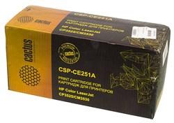 Лазерный картридж Cactus CSP-CE251A (HP 504A) голубой для принтеров HP  Color LaserJet CM3530, CM3530fs MFP, CP3520, CP3525, CP3525dn, CP3525n, CP3525x (10500 стр.) - фото 6090