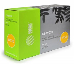 Лазерный картридж Cactus CS-WC20 (106R01048) черный для Xerox Copycentre C20; WorkCentre m20, m20i (8'000 стр.) - фото 6316