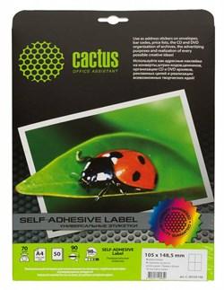 Этикетки Cactus С-30105148 A4 105x148.5мм 4шт на листе, 50л. - фото 6369