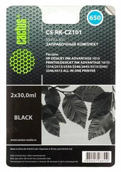 Заправочный набор Cactus CS-RK-CZ101 черный для HP DeskJet 2515,DeskJet 3515; Ink Advantage 1015, 4515 eAiO (2*30ml) - фото 6387