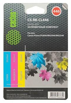 Заправочный набор Cactus CS-RK-CL446 многоцветный для Canon Pixma MG2440, MG2541 (3*30ml) - фото 6390