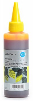 Чернила Cactus CS-I-CC643Y желтый для HP DeskJet D1663, D2563, D2663, D5563, F2423, F2483, F2493 (100 мл) - фото 6397